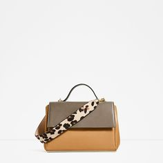 Image 2 of TWO-TONE CITY BAG WITH CHAIN from Zara