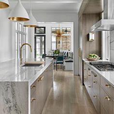 Looking for beautiful modern kitchen ideas for your kitchen designs or kitchen remodel? Here are some gorgeous modern kitchen examples for your inspiration. Modern Kitchen Design, Interior Design Kitchen, Modern Interior Design, Contemporary Kitchens, Bohemian Interior, Scandinavian Interior, Coastal Interior, Top Interior Designers, Modern Interiors
