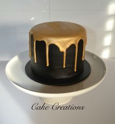 New cake fondant gold royal icing 17 ideas Black And Gold Birthday Cake, Black And Gold Cake, Buttercream Cake, Fondant Cakes, Cupcake Cakes, Cake Recipes From Scratch, Cake Mix Recipes, Black Fondant, Gold Cupcakes