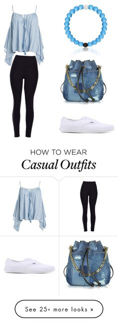 """Casual but cute"" by fifibaba on Polyvore featuring Sans Souci, Vans and Dsquared2"