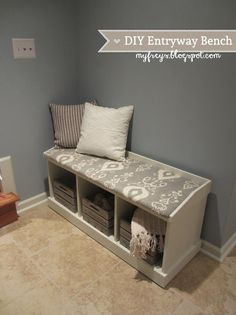Chad and Elana Frey: DIY Entryway Bench #Home-Decor