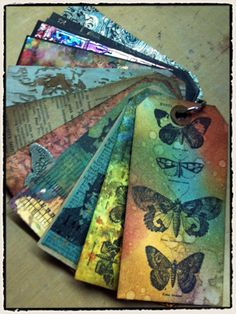 More Tim Holtz and his distressed ink pads & alcohol inks. Love his stuff!