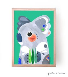 This is a fine art print from the original 'Koala' Artwork by Pete Cromer. Available in the following sizes and editions...