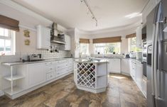 #Kitchen #breakfast room, with feature island and #winerack in Whepstead, Bury St Edmunds, Suffolk