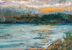 Lake View by Jodi Monahan in the FASO Daily Art Show 5x7 www.jodimonahanartistry.com