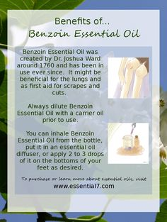 Benefits of Benzoin Essential Oils
