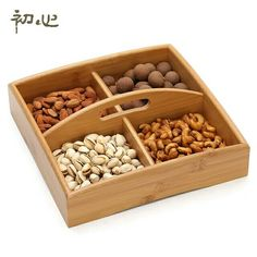 of the heart of European snacks division dried fruit candy dish living fashion bamboo tray fruit box fruit plate