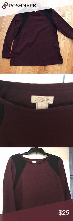 Jcrew long sleeve top Cute maroon and black top from JCREW J. Crew Tops Blouses