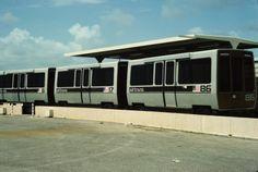 DFW vehicles lined up #podcar #retrotransportation  #advancedtransit