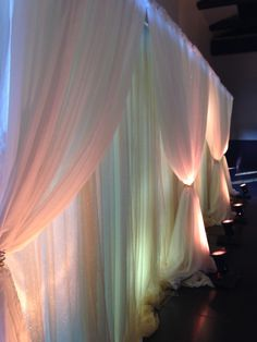 Romantic Ceremony draping by Spielman's Events at Bella Sala Reception and Banquet Facility in Tiffin, Iowa