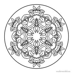 Leaf Mandala Colouring Page 3 Free mandala coloring pages with flower and Leaf designs ,  Wonderweirded Mandalas zum Ausmalen :-)  Here our blaetter und Blumenbilder  zum Ausmalen Blumenmandalas, Kostenlose Mandala Ausmalbilder , Mandala zum Ausmalen und Mandala Zum Ausdrucken mit Blumen Motiven