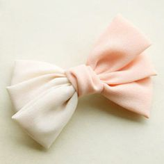 Two-Tone Bow-Accent Barrette Pink - One Size Cheap Silver Jewelry, Pearl Jewelry, Bows, Pearls, Barrette, Diamond, Pink, Accessories, Arches