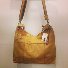 Tan. Leather. Handbag. One of our faves!!!!! Available in store now!!!!!! Phone us on 0268515686 to purchase!!!