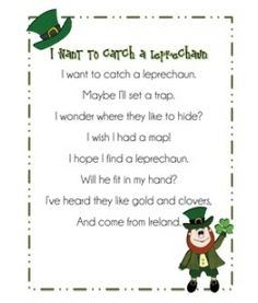 """Poem, """"I Want to Catch a Leprechaun"""""""