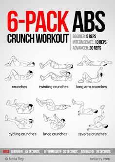 6-Pack Abs Crunch Workout