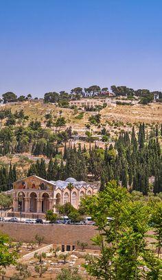 View on Mount of Olives in Jerusalem