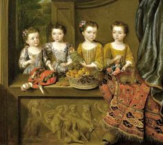 It's About Time: Children with Dolls 16C - 18C Classic Portraits, Family Portraits, Child Portraits, Old Dolls, Antique Dolls, Matthew Decker, Art Gallery, Woman In Gold, Doll Painting