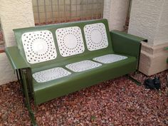 1950s Antique Porch Glider by ImagesByJessie on Etsy, $625.00