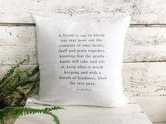 George Eliot French Linen Pillow Cover