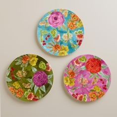 Garden Plates for Easter, Set of 3 | World Market - pretty plates make me happy : )
