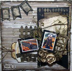 Tim Holtz - Idea-ology Collection - Halloween - 12 x 12 Paper Stash - Kraft Resist
