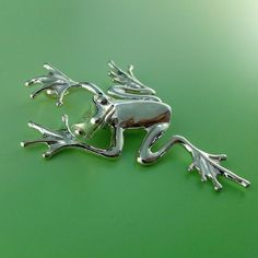 Silver Frog Pendant  Sterling Silver Tree by DawnVertreesJewelry, $89.00