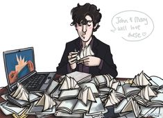 I love the idea of Sherlock watching Youtube to learn how to fold napkins!