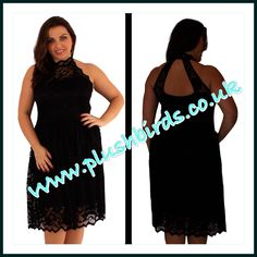High Neck Black Lace Dress available sizes 18-24 only £35.00 at www.plushbirds.co.uk