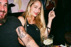 "art-vandelayy: ""Jemima Kirke with her husband """