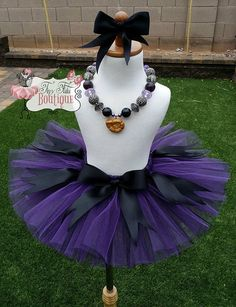 Adultteenchild ursula inspired tutu with genuine swarovski ursula sea witch purple black little mermaid by tinytutuboutique solutioingenieria Images