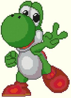 Yoshi 2 Cross Stitch Pattern-Video Games von KeenahsCrossStitch