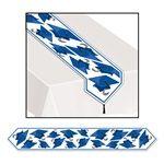 blue grad cap table runner