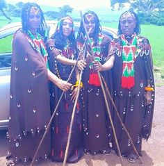 Oromo women holding Siiqee (their social power stick) in unity (demonstrating their traditional social power in Oromian society). Women in power. Oromia, the beautiful Africa. Khemetic/ Kushitic