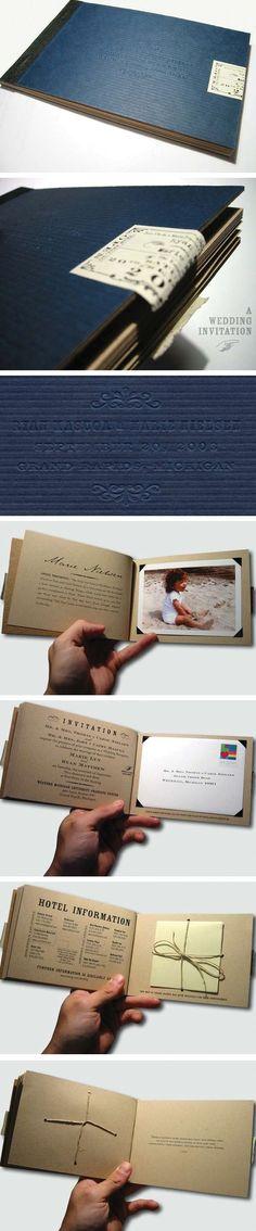 invitation book, destinations, books, paper, invit booklet, booklet design, booklet wedding invitations, scrapbook, destination weddings
