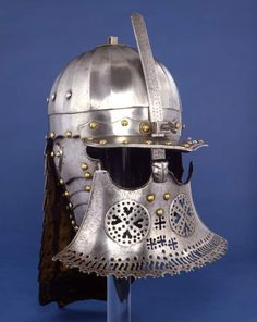 A Szyszak. Made in the Polish-Lithuanian Commonwealth, circa 1640. In the collection of the Fitzwilliam Museum, Cambridge, UK. And I can tell you this photograph does not do it justice, it's an incredible helmet.