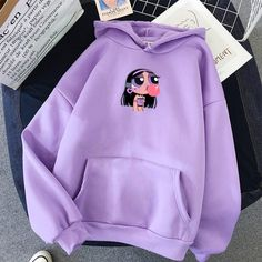 hoodie outfit Cancer Hoodie Kiss Me Bang Bang Cute Lazy Outfits, Teenage Outfits, Teen Fashion Outfits, Retro Outfits, Trendy Outfits, Girl Outfits, Purple Outfits, Tomboy Outfits, Punk Fashion