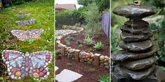 Use rocks and stones to create useful and artful accents for your garden!