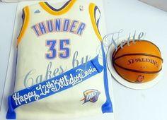 74a3591a9 2-D OKC Thunder Jersey and Basketball Cake