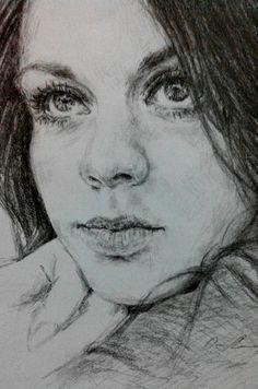 портрет. рисунок карандашом. мои рисунки.