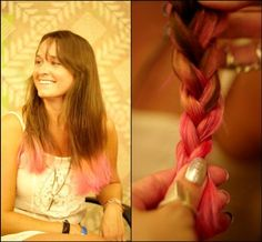 DIY Halloween Hair: DIY Halloween Hairstyles : DIY Dip Dyed Hair