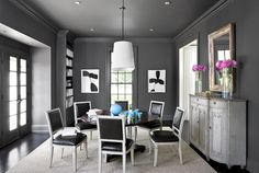 Love how the trimwork and ceiling are painted the same as the wall color