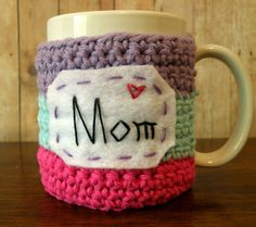 Mom's sweet treat mug cozy - my imagination is on over drive after this one!