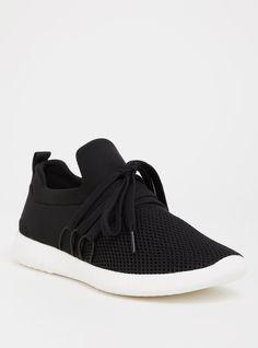 52a332a79ac Black Nylon Mesh Sneaker (Wide Width)