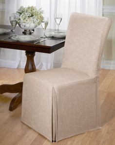 Shorty Dining Chair Slipcover | Dining chair slipcovers, Chair ...