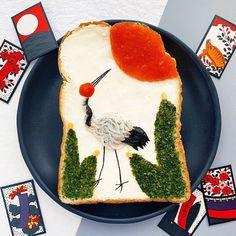 Toast Art, un concept de la designer Manami Sasaki - le site du Japon Sashimi, Tostadas, Bento, Japanese Rock Garden, Edible Gold Leaf, Bread Art, Japanese Kitchen, Famous Artwork, Blueberry Jam