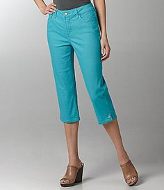 7091cb3403 Not Your Daughter´s Jeans Petite Brandi Rhinestone Cropped Pants in  AQUAMARINE -  SephoraColorWash