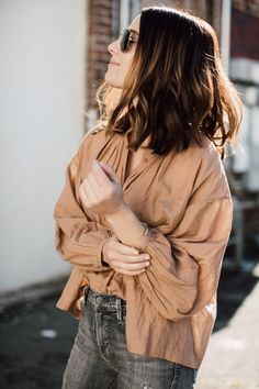 My Recipe for the Everyday Uniform - Cheetah is the New Black Loose Tops, Daily Fashion, Ruffle Blouse, Skinny Jeans, Street Style, Style Inspiration, My Style, Stylish, Casual