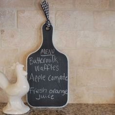 Chalkboard, Repurposed Cutting Board, Kitchen Decor