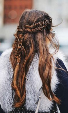 fishtail waterfall braid