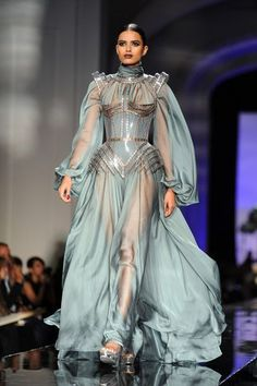 Love the flowy dress with inlaid metal bodice. Minus sleeves. OC valkyrie